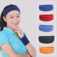 exercise stretch band - 10pcs Stretch Cotton Sweat Headband Breathable Sweatband Athletic Exercise Yoga Hair Band Outfits os705