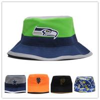 american sports seattle - Seattle Bucket American Football Hat For Men Cool Summer Style Women Sport Fishman Hat Hip Hop Buckets Cap