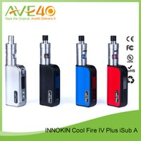 apex screen - Authentic Innokin Coolfire IV Plus iSub Apex W Starter Kit ecig box mod vaporizer OLED Screen Black Red Blue Silver ecigarette kiits