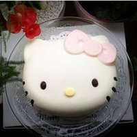 Wholesale Hot Selling Hello Kitty inches Silicone Cake Mold Pudding Chocolate Baking Mold
