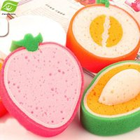 Wholesale Kitchen Necessary Cleaning Tools Strong Dish Towel Cartoon Fruit Cleaning Sponge Magic Scouring Pad dandys