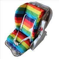stroller baby - 2015 Thick Rainbow Baby Infant Stroller Car Seat Pushchair Cushion Cotton Cushion Pad Cover Mat
