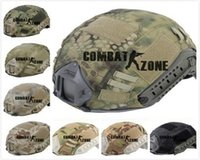 airsoft helmet cover - Tactical Airsoft Paintball Helmet Case High strength Nylon Fast Ballistic CS Military Cloth Cover for Ops Corer helmet color