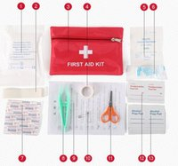 Wholesale Factory Direct Sets First Aid Kit For Outdoor Travel Sports Emergency Survival Indoor Or Car Treatment Pack Bag