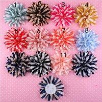 chevron fabric - 3 quot Handmade chevron chiffon flower colors fabric flower