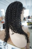 kinky curl lace wig - Kinky Curly Indian remy Full Lace Human Hair Wigs with baby hair around full lace wig afro kinky curl For Black Women