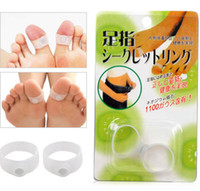 Wholesale Magnetic Silicon Foot Massage Toe Ring Weight Loss Slimming Easy Healthy magic slimming toe ring Fed free