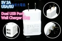 Cheap Fast Charge 2A Dual USB EU US Plug Home Wall Charger Adapter For IPhone 4s 5 5c 5s ipad mini for samsung Galaxy S3 S4 i9500 Note3 Tablet
