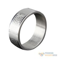 Wholesale Silvery Fashion Men Cross Bible Metal Ring PEPU