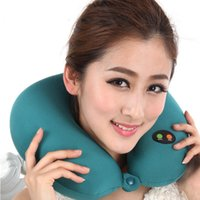 Wholesale New U type electric massage pillow massager massage pillow cervical pillow lunch break neck massager