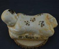 antique porcelain doll - Song Xiang Hu kiln stippling unearthed antique porcelain doll antique porcelain pillow retro classic home decoration flea favorites