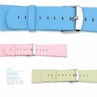 Wholesale 42mm Microfiber Leather Watchband For iwatch Bracelet Replacement Wrist Band Straps Watchbands For Apple Watch Strap Classic Fashion