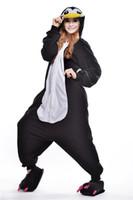 babydoll pajamas - Cute Penguin Kigurumi Pajamas Animal Suits Cosplay Halloween Costume Adult Garment Cartoon Jumpsuits Warm Bridal Undergarments