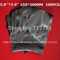 Wholesale 100pcs bag static bag X200mm_5 X7 Top Open anti static antistatic esd bags