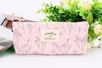 Wholesale Flower Bag Purse Travel Bags Canvas Pouch Women Storage Purse Floral Pencil Pen Case