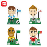 beckham toy - Wise Hank Diamond Mini Blocks World Cup football Star Model DIY Toys C Ronaldo Messi Beckham Gifts Building Kits
