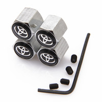 anti toyota - Lockable Black Toyota Anti Theft Dust Cap Tire valve caps With Car Logo Badges Emblems Black Toyota With Retail Box SZYX