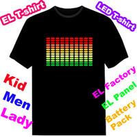Unisex led shirt - T qualiser Lighting T shirt Equalizer EL T shirt EL flashing t shirt Sound Activated shirt led t shirt EF33
