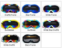 Wholesale 6 Year Boys And Girls Two Layer Professional Ski Goggles Colors Children Large Spherical Myopia Goggles Cocker