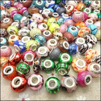 Wholesale 100pcs DIY Accessories Loose Beads Mix Resin Beads fit Pando style Bracelet Charms Jewelry Fitting