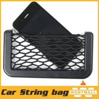 Wholesale portable Car Interior Styling Automotive Net Organizer Pockets Net Car Storage String Bag Pocket With Adversive Net