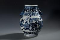 porcelain - Deer porcelain statue Vase Millennium porcelain Jingdezhen ceramic vase painted antique blue and white Ming vase deer statue Bogut