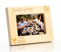 wood photo frame - quot Thanksgiving Thank You quot Handmade Curved Wood Photo Frame with Retail Box x7 Horizontal Stock in US Canada