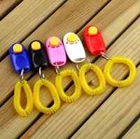 Wholesale Portable Pet Training Clicker Dog Cat Bird Horse Click Obedience Trainer Aid with Wrist Strap