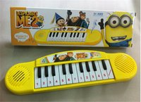 Wholesale 30pcs Despicable Me Musical instruments toy for kids minions Cartoon electronic organ toy keyboard electronic baby piano with music D417