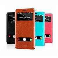 windows mobile - Original Flip Open Window PU Leather Hard Phone Cases for Lenovo K910 VIBE Z Mobile Phones Case Smartphone Cover Celular Bag