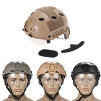 Wholesale New Black Airsoft Tactical FAST Helmet with Protective Goggle ski helmet BHU2