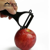 Wholesale Middia Ceramic knife gearshaping kitchen knives leather matchboards peeler Black Blade Ceramic Kitchen Peeler fruit knife peeling devic