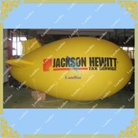 airship blimp - Whole Sale m Yellow Inflatable Blimp Customize Zeppelin with Your Logo and Colors Airship