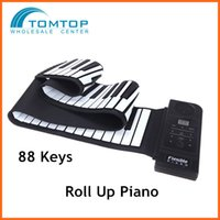 Wholesale 88 Keys Flexible Electronic Piano Keyboard Silicon Roll Up Piano USB Port with Sustain Pedal Loud Speaker Top Quality