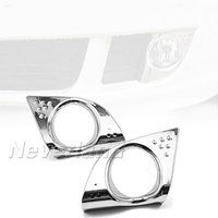 acura abs light - 2PCS ABS Chrome Front Fog Light Lamp Cover Bezel for Acura TSX Car Accessories C20
