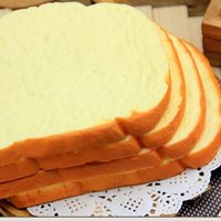 artificial bread - Artificial toast bread cm Jumbo squishy Charm Squishies hand pillow kids food toys gifts