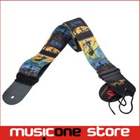 Wholesale 5pcs New Halloween Pattern Adjustable Print Genuine Leather Ends for Acoustic Guitar Bass Strap MU0389