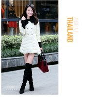 fur hooded jackets - 2014 new winter cultivation raccoon fur collar in the long section of Pu A font down jacket