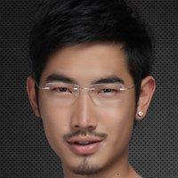 beta titanium eyeglasses frame - Ultra light beta titanium glasses frame rimless glasses eyeglasses frame