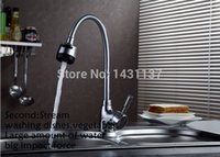 Wholesale High quality Kitchen Faucet Chrome Brass hot and cold square rotating kitchen Sink Basin Mixer Tap Faucet