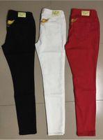 Wholesale 3 Colors New Fashion Women Robin Skinny Jeans Denim Wings Pencil Pants Designer Famous Brand Ladies Jeans Plus Size