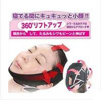 Wholesale DHL D Face Slimming Shaping Cheek Uplift Sleeping Belt Cheek Scalp Face Shaper Belt Anti Wrinkle Sagging