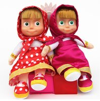 Wholesale Russian Language Voice Control Masha Doll Cartoon Martha Marsha Musical Dolls Learning Education Baby toys for Children