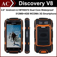 dual sim phone smart phone - Rugged Discovery V8 IP68 Waterproof G Smart Phone quot IPS Android MTK6572 Dual Core Dual SIM GHz MB RAM GB ROM Cellphone DHL