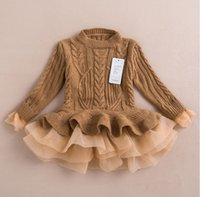 american com - 2015 new arrival kids girls knitted sweater dress pullover winter dresses for girl toddler vestido com cardigan infantile sweater tutu dress