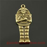 ancient pharaoh jewelry - mm DIY retro jewelry accessories ancient bronze pendants Egyptian Pharaoh