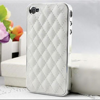 affordable leather - Luxury PU Leather Retro Elegant Soft Grid Skin Case for iphone G S G Hard Back Cover Phone Bag Affordable On Sale