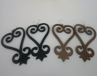 wooden earrings - High Quality cm size SANKOFA symbol Wooden Earrings can mixed colors pairs SM E116