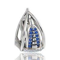 Silver arab bracelets - authentic sterling silver BurjAI Arab charm beads fit European charms bracelets pandora style jewlery No80 X386