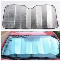 Wholesale Car Sunshade Sun shield CM Foldable Car Auto Wind shield Sun shade Cover for Front Back Window Car Sun Block Sun Visor LJJE165